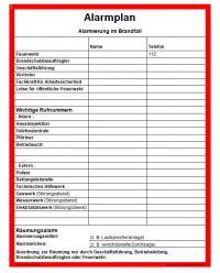 Download Dokument Alarmplan Alarmierung im Brandfall