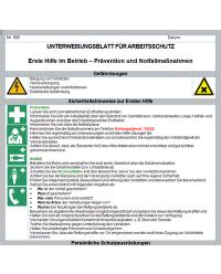 Erste Hilfe im Betrieb - Prävention und Notfallmaßnahmen Unterweisungsblatt zum Download
