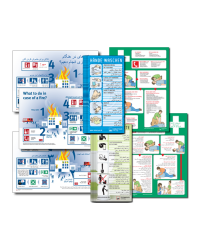 Paket Mehrsprachig bestehend aus Aufklebern und Plakaten