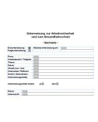 Download Dokument Unterweisung zur Arbeitssicherheit und zum Gesundheitsschutz