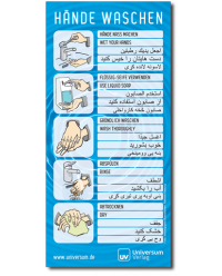 nonbook Ratgeber Aufkleber Handhygiene