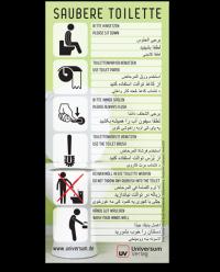 nonbook Ratgeber Aufkleber Toilettenhygiene