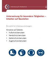 Download Dokument Unterweisung für besondere Tätigkeiten -Arbeiten auf Baustellen