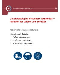 Download Dokument Unterweisung für besondere Tätigkeiten - Arbeiten auf Leitern und Gerüsten