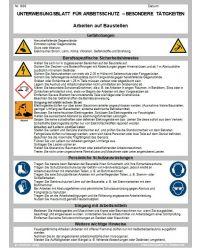Download Dokument Arbeiten auf Baustellen Unterweisung für Arbeitsschutz - besondere Täigkeiten