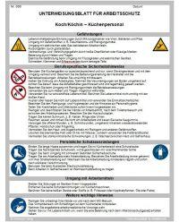Download Dokument Koch/Köchin Küchenpersonal - Unterweisungsblatt für Arbeitsschutz