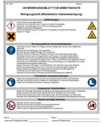 Download Dokument Reinigungskraft - Unterweisungsblatt für Arbeitsschutz