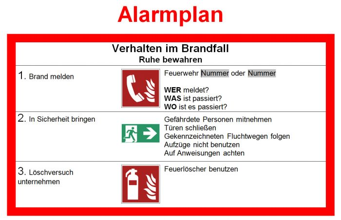 Piktogramm Alarmplan Muster Zum Download 5