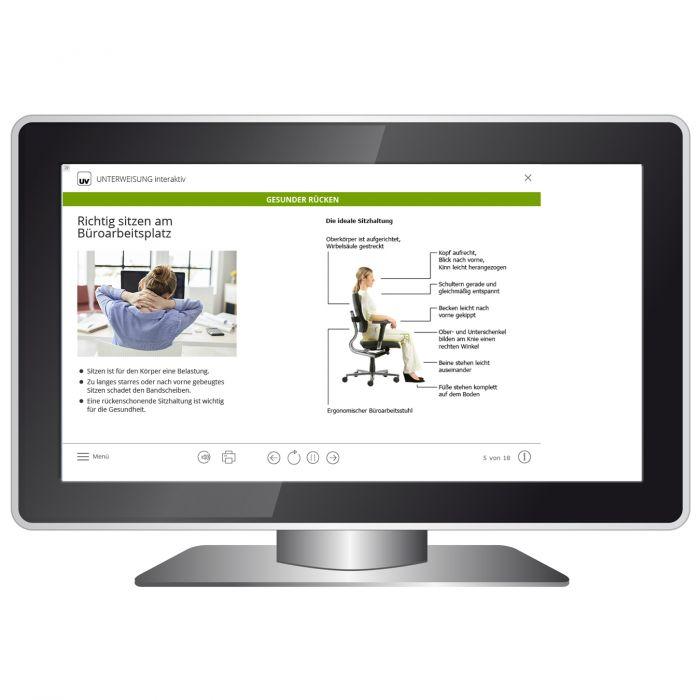 Universum Shop - Unterweisung interaktiv - Gesunder Rücken - Download