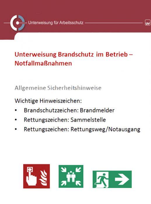Brandschutz Im Betrieb Notfallmassnahmen Unterweisungsprasentation Universum Shop