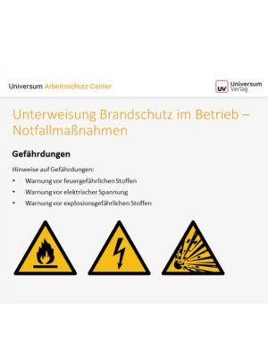 Download Dokument Unterwweisung Brandschutz im Betrieb - Prävention