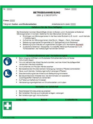 Download Dokument Betriebsanweisung