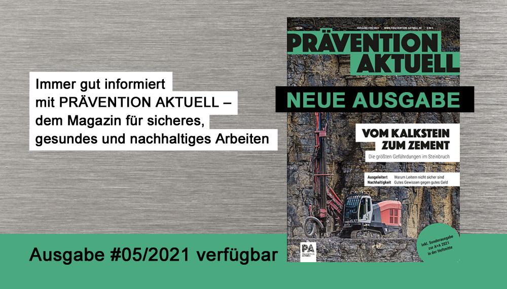 PRÄVENTION AKTUELL Ausgabe 05/2021 verfügbar