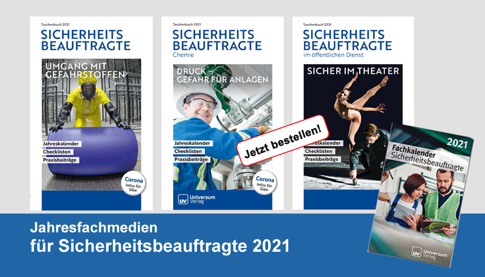 Jahresfachbücher für Sicherheitsbeauftragte 2021 - neu erschinen