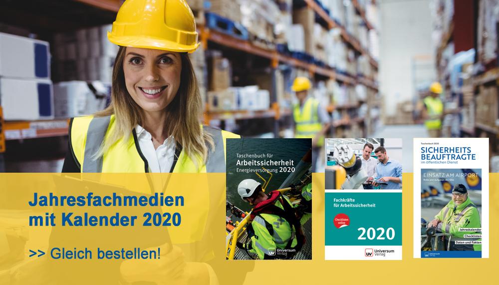 Jahresfachmedien Arbeitsschutz 2020 mit Kalender