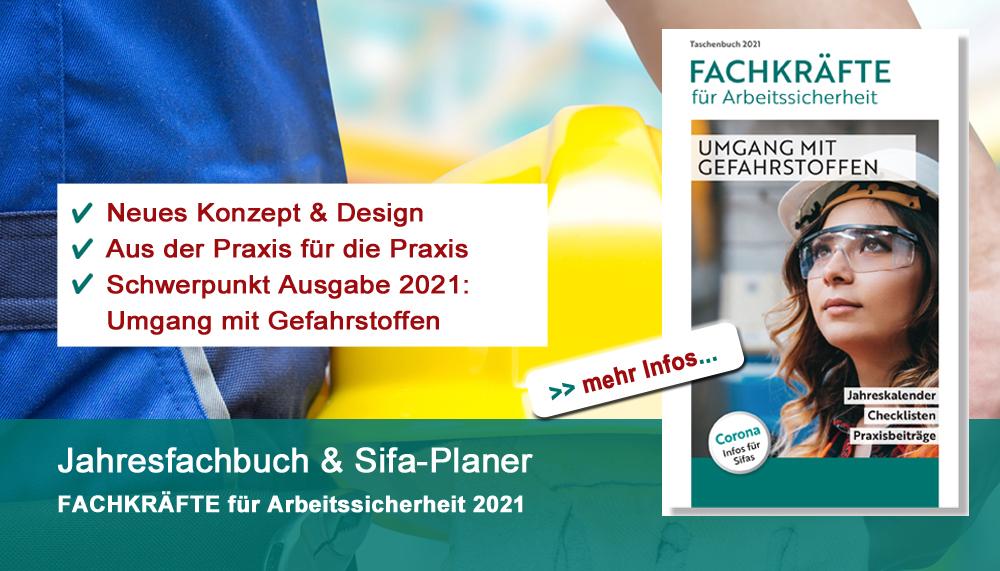 Jahresfachbuch Fachkräfte für Arbeitssicherheit 2021 - neu erschinen